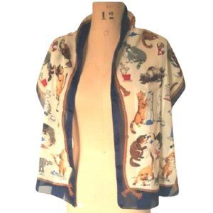 The ultimate cat lovers vintage scarf
